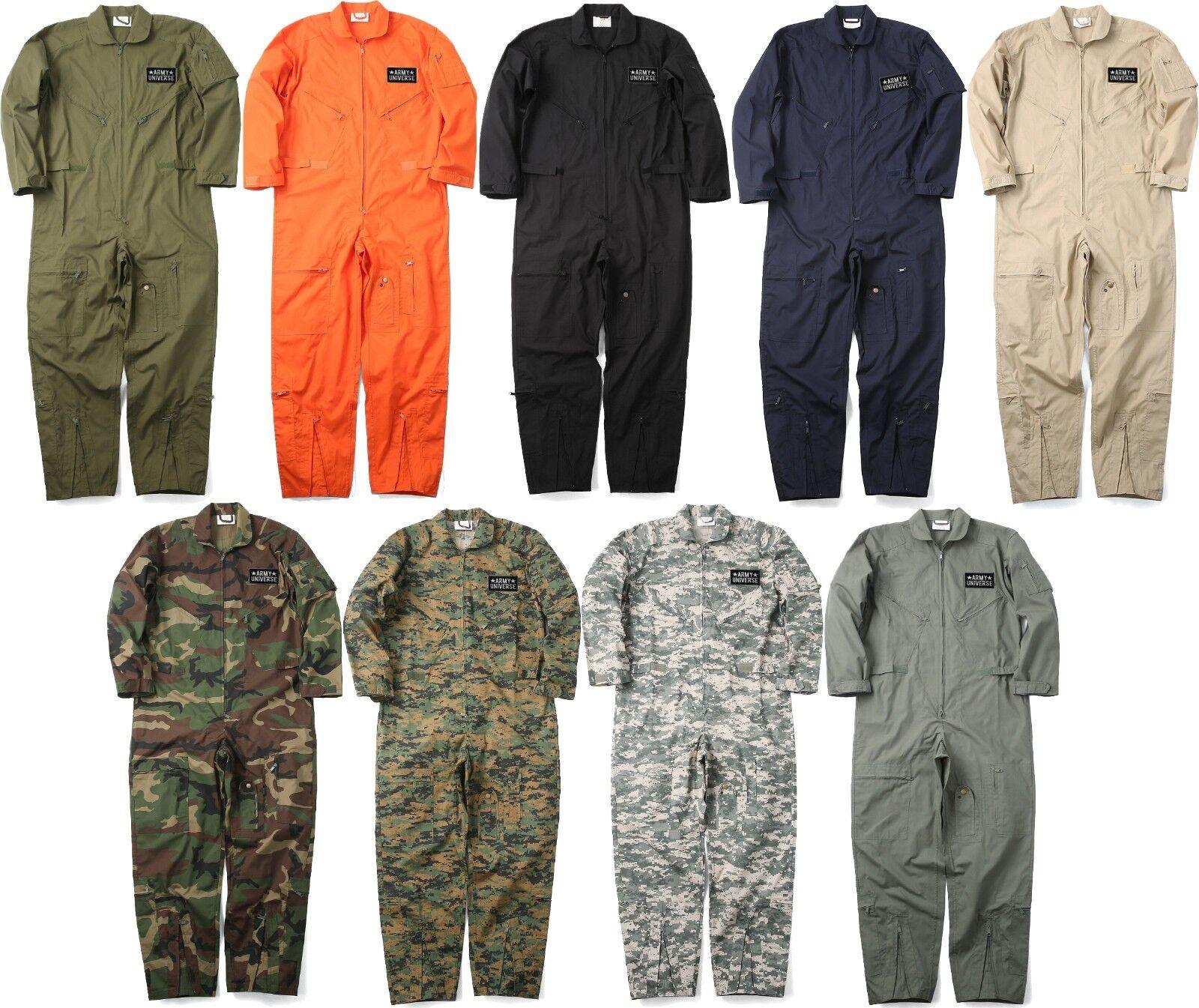 5ede08e57150 Military Uniform Flight Suit Air Force Style Fighter Coveralls Jumpsuit +  Patch