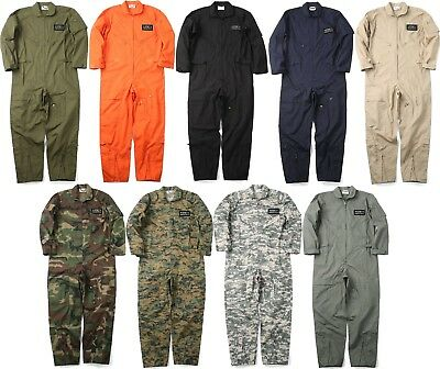 Military Uniform Flight Suit Air Force Style Fighter Coveralls Jumpsuit +  Patch  838e269a31d