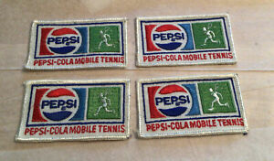 Vintage & Unused Pepsi-Cola Mobile Tennis Patch (4 Patches)