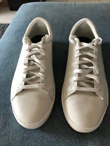 Details about VG/EX Fred Perry Men Casual Shoes Sz10 B4130 Leather Sneakers  White NO BOX!!