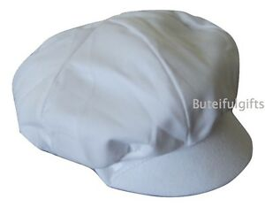 42b445791 Details about Baby Boys White Soft Lined Sun Cap Newborn 0-3 3-6 Months  Boys Sun Hat