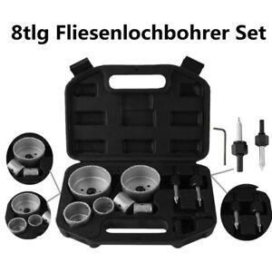 8-Tlg Fliesen Bohrer Dosenbohrer Fliesenlochbohrer Bohrkrone Keramik Set