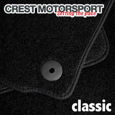 VW PASSAT (B6) 2007 on (Round Clips) CLASSIC Tailored Black Car Floor Mats