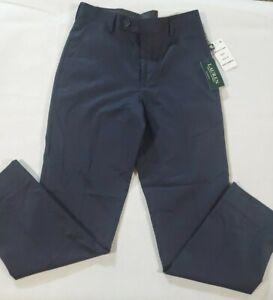 New-Ralph-Lauren-Boys-Dress-Slim-Fit-Straight-Flat-Front-Pants-Size-10-Navy-Blue