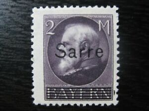 SAAR-SAARLAND-Mi-28-scarce-mint-overprint-stamp-CV-90-00
