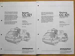 Dynapac Walze CC 421 Betriebs- u. Wartungsanleitung, Original v. Dynapac, Walze