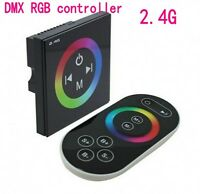 2.4G wireless Led RGB DMX Decoder Touch panel Remote Controller Dimmer 12V/24V