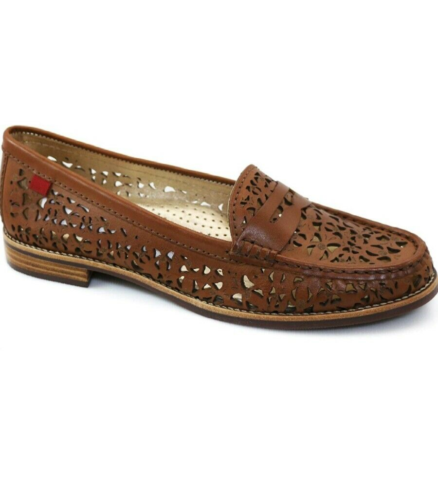 ecco l'ultimo Marc Joseph New York East East East Village Penny Loafer Perforated Cognac eyelet sz 7  popolare