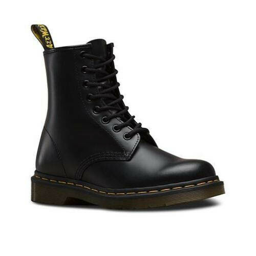 Black Dm's 15 Boots Leather Uk 1460 Eyelet Smooth 8 Martens Dr Original qWxH4zBxwt
