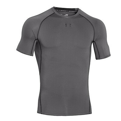 Sporting Goods Inventive Under Armour Heatgear Compression Short Sleeve Shirt Graphite 1257468-040