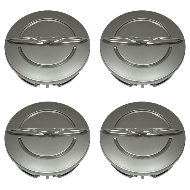 satin 5 Town /& Country center caps hubcaps 1LB74TRMAB Chrysler 200,300