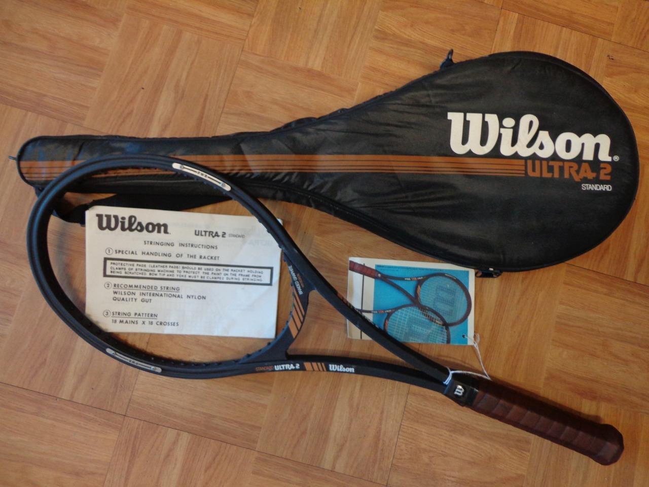 Nuevo Wilson Ultra 2 estándar  2 75 cabeza 4 1 2 de agarre Original Rara tenis raqueta  Compra calidad 100% autentica