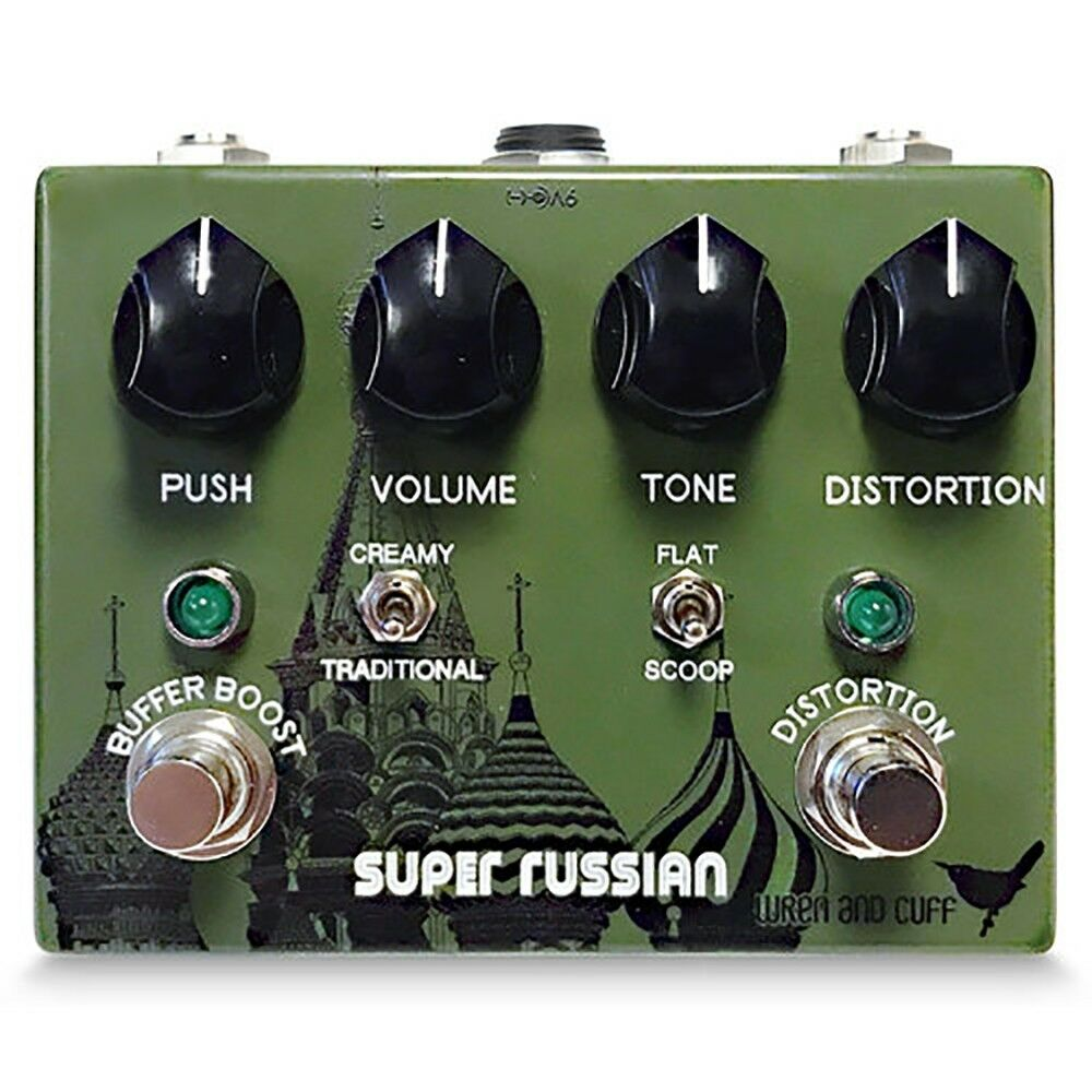 Wren and Cuff Super Russian Tall Font Plus Germanium Buffer-Boost Effects Pedal