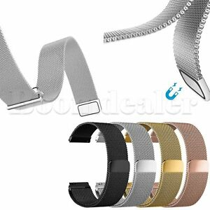 Magnetic-Milanese-Armband-Wrist-Band-fuer-Samsung-Gear-S3-Frontier-amp-Classic-22mm