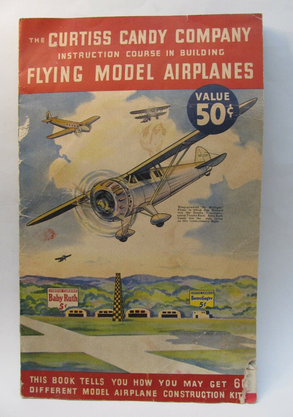 Rare 1930's Curtiss Candy BUILDING MODEL AIRPLANES premium book LARGE