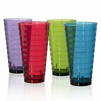 Splash Break-resistant Plastic 28oz Iced Tea Cup Tumblers - Set Of 8 In 4 Assort on sale