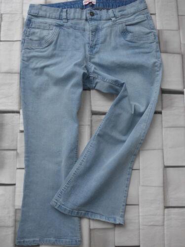 806 46 e 52 BLU 7//8 Jeans Donna Bermuda Caprihose Sheego Caprihose tg