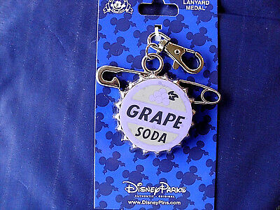 NEW Disney Parks Grape Soda Cap UP Pixar Lanyard Medal Pin Trading