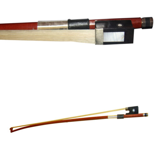 Zest Student Quality Ebony 3//4 Full Mounted Round Brazilwood Student Violin Bow