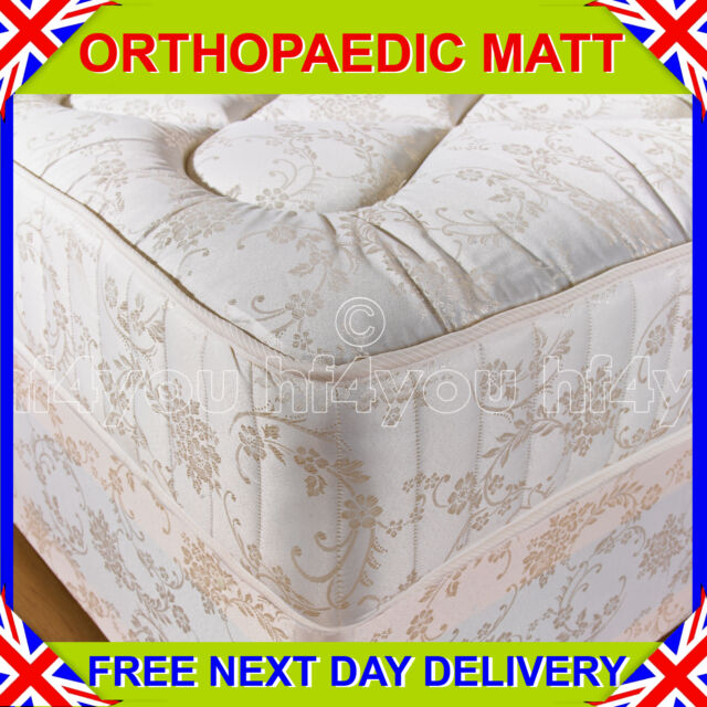 *NEW* 4ft Small Double 10 INCH ORTHOPAEDIC DEEP QUILTED DAMASK MATTRESS