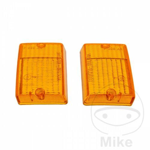 Rear Square Indicator Orange Lens Set x2pcs Vespa PK 50 S 1982-1986