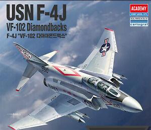 ACADEMY-USN-F-4J-VF-102-Diamondbacks-12323-Air-Craft-Assembly-Model-1-48