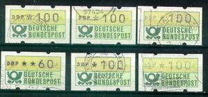 60 Pfg Gestempelt Grünoliver Stern Bund Automatenmarken Grün Lot Type 1 Und 2