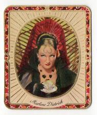 Marlene Dietrich 1934 Garbaty Film Star Series 2 Embossed Cigarette Card #56
