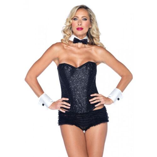 playboy bunny waiter tuxedo kit bow tie collar wrist cuff halloween costume set - Halloween Costume Playboy Bunny