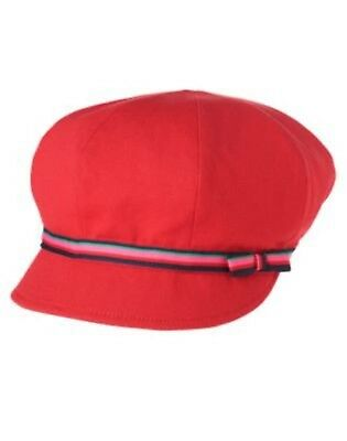 Gymboree NWT Red BRIGHTEST IN CLASS NEWSBOY SUN HAT CAP 3 4 5 6 7 8 9 10 Years