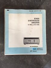 Hewlett Packard 8340a Synthesized Sweeper Hp Operating Manual Volume 1