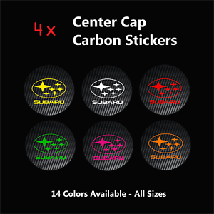 4-Center-Caps-Stickers-to-SUBARU-Racing-Badge-Logo-Carbon-Alloy-Rim-Wheels-Sport