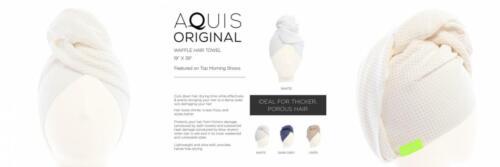 White Aquis Microfiber Waffle Hair Towel