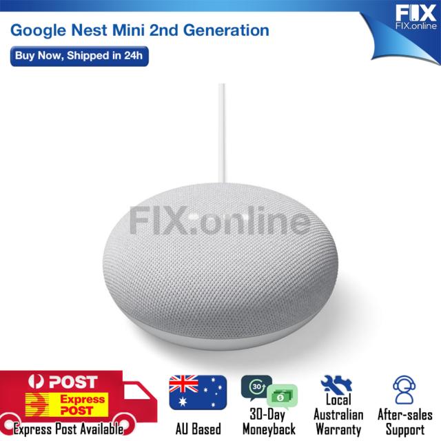 New Google Nest Mini (Chalk) 2nd Gen Smart Speaker WiFi with Voice Assistant