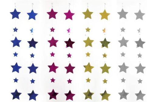 2 Por Paquete-Hermosa Aprox 110 Cm Star Guirnaldas