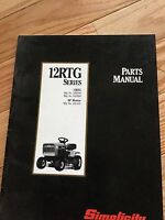Simplicity 12 Rtg Series Parts Manual 36 Mower Deck