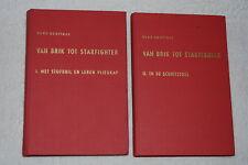 Van Brik Tot Starfighter Volume 1 & 2 by Hugo Hooftman (1962, Hardcovers)