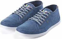 Boxfresh Sparko Blue Brown Canvas Mens Trainers Shoes Boots