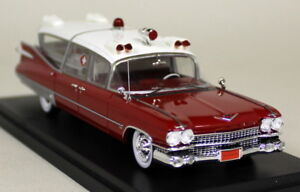 Neo-1-43-escala-45260-1959-Cadillac-S-amp-s-Superior-Coche-Modelo-de-Resina-ambulancia-Landau