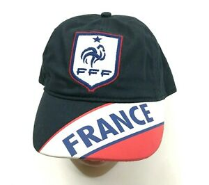 NEW France Soccer Hat Cap The Blues Football Strapback Gallic Rooster Colorblock