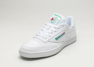b05e672d1ed Reebok Classic Club C85 White Glen Green AR0456 Mens Casual Shoes ...