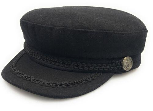 2018 New Ladies Girls Newsboy Wool Blend Baker Boy Peaked Black Cap Hat UK CHEAP