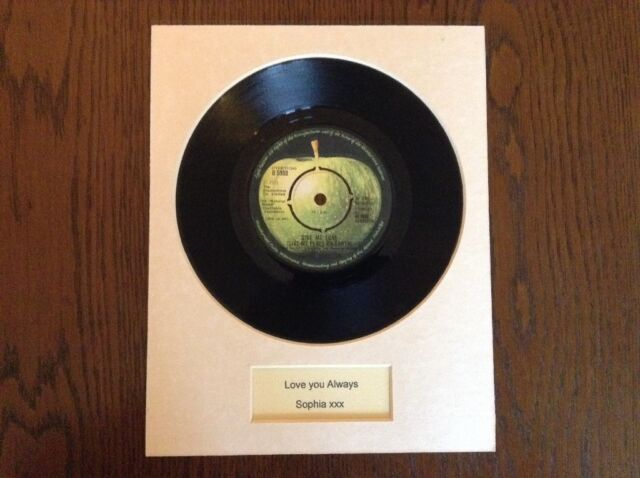 BEATLES  BIRTHDAY GIFT PERSONALISED MOUNTED RECORD - unique novelty gift. !!!!.
