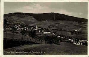 Oberwiesenthal-alte-Ansichtskarte-1936-gelaufen-Totale-Panorama-mit-Fichtelberg