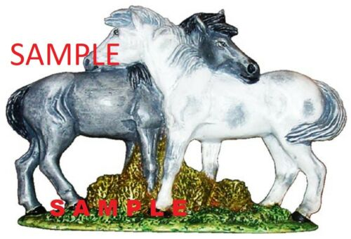 Stallion Mustang HORSE couple Hugging READY TO PAINT CERAMIC BISQUE