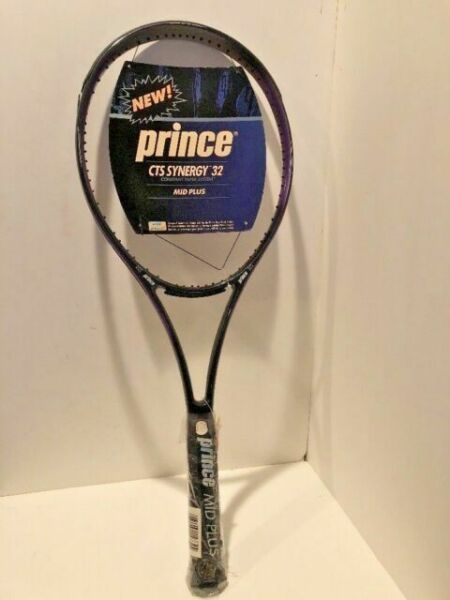 Details about  /Prince CTS Synergy 32 Midplus 100 head 4 1//4 grip RARE Tennis Racquet