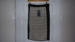 NEW-M-amp-S-BLACK-MIX-BEEHIVE-SKIRT-SIZE-MEDIUM-LENGHT-25-INCHES-WITH-TAG