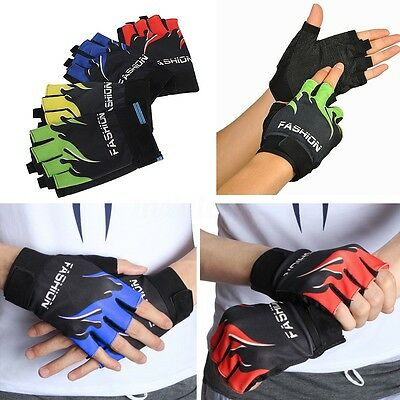 Outdoor Sports Cycling Bike Bicycle Motorcycle Gym Anti-Skid Half Finger Gloves