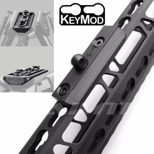 KeyMod Picatinny BIPOD ADAPTER Tactical Low Profile rail Slot Sling Swivel Stud