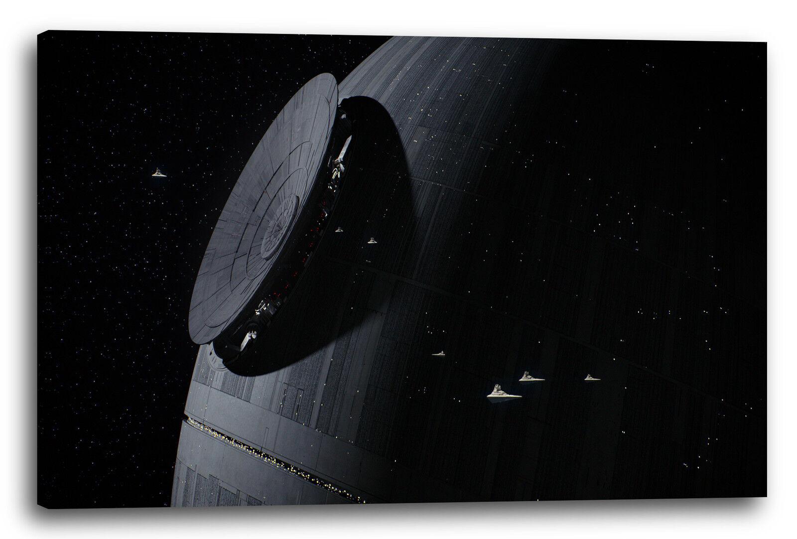 Lein-Wand-Bild  Star Wars Todesstern, mehrere Größen verfügbar (kein Poster)